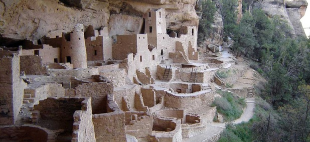Cliff Palace at Mesa Verde National Park, Colorado, built by Anasazi c. 1200. The Antiquities Act was passed to protect such sites from looters.