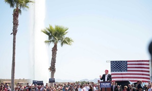 Trump speaks at a March rally in Arizona.