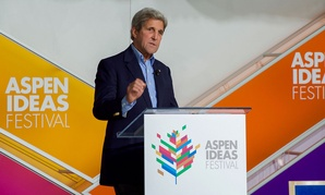 John Kerry addressed attendees at the Aspen Ideas Festival Tuesday.