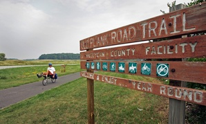 Sheboygan County's bike trail.