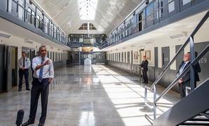 Obama speaks at Oklahoma's El Reno Federal Correctional Institution in 2015.