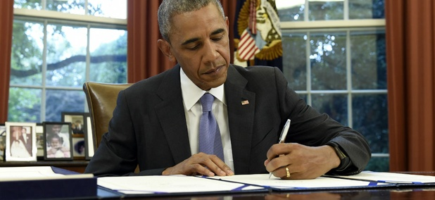 President Obama signed the FOIA Improvement Act of 2016 in the Oval Office on Thursday.