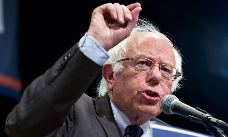 Sanders has withheld his endorsement for weeks, trying to move the Democratic party platform to the left.