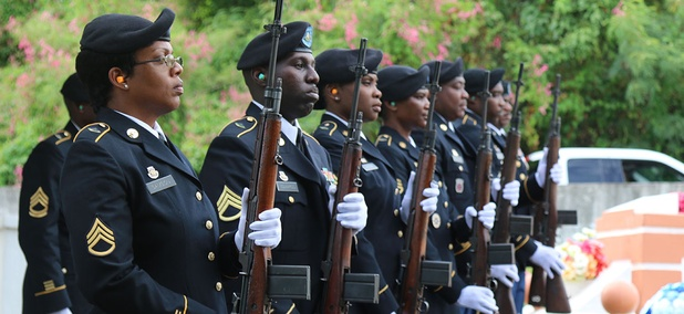 Members of the Virgin Islands National Guard participated as firing detail during the Memorial Day Parade in May.