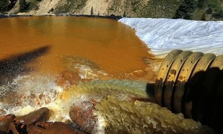The Animas River turned orange in 2015.