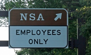 The National Security Agency exit on the Baltimore-Washington Parkway in Maryland.