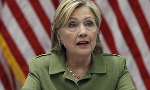 Democratic presidential candidate Hillary Clinton meets with law enforcement leaders in New York.
