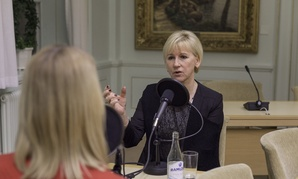 Sweden's  Minister for Foreign Affairs and Deputy Prime Minister Margot Wallström conducts an interview in 2015.