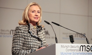 Clinton speaks at the Munich Security Conference in 2012.
