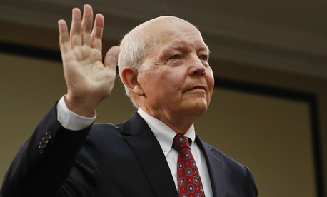 IRS chief John Koskinen is sworn in before the House Judiciary Committee on Wednesday.