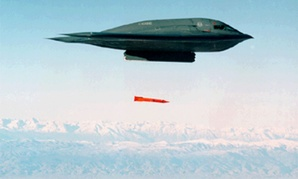 A B-2 bomber releasing a B61-11 JTA in a previous legacy flight test.
