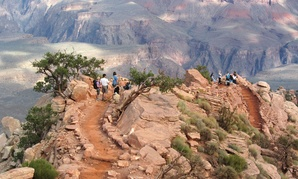 Members of the Grand Canyon Active Trails Program pause to take in the spectacular view from Windy Ridge on the South Kaibab Trail in 2011.