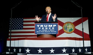 Donald Trump speaks during a campaign rally in Florida on Oct. 13.