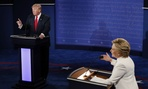 Donald Trump and Hillary Clinton square off at the third presidential debate in Las Vegas on Wednesday.