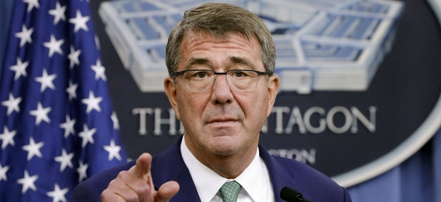 """Defense chief Ash Carter said: """"We will provide for a process that puts as little burden as possible on any soldier who received an improper payment through no fault of his or her own."""""""
