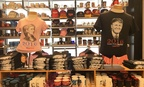Clinton and Trump merchandise sits at a shop in Washington, D.C.'s Union Station.