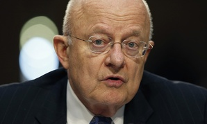 Director of the National Intelligence James Clapper speaks on Capitol Hill in Washington.