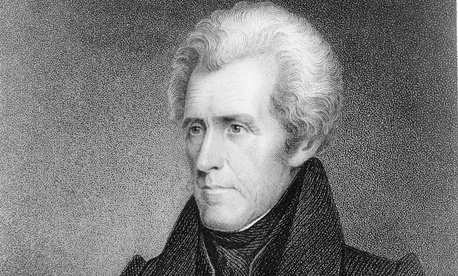 J.B. Longacre's portrait of Andrew Jackson was engraved sometime between 1815 and 1845.