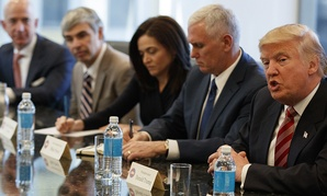 President-elect Donald Trump speaks during a meeting with technology industry leaders at Trump Tower in New York, Wednesday, Dec. 14, 2016.