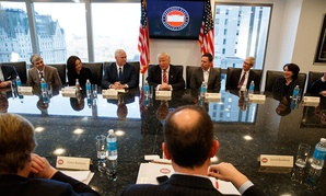 Donald Trump speaks during a meeting with technology industry leaders at Trump Tower in New York last week.