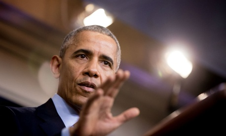 President Obama speaks during a White House news conference Dec. 16.