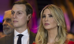 Jared Kushner and his wife Ivanka Trump attend a victory party in April.