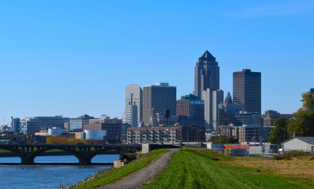The Des Moines skyline.