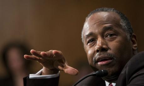 Housing and Urban Development Secretary-designate Ben Carson testifies on Capitol Hill Thursday.