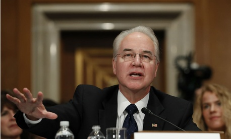 Health and Human Services Secretary-designate, Rep. Tom Price, R-Ga. testifies on Capitol Hill Wednesday.
