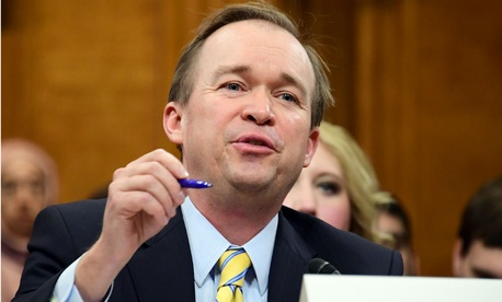 OMB nominee Mick Mulvaney testifies before the Senate Budget Committee.