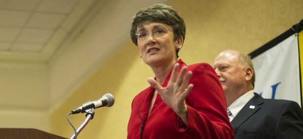 Former Rep. Heather Wilson, R-N.M., would be the first Air Force secretary to have previously been elected to Congress.
