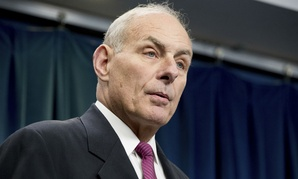 DHS Secretary John Kelly speaks at a press conference Tuesday.