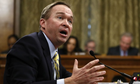 OMB Director-designate Mick Mulvaney testifies on Capitol Hill last week.