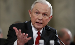 Jeff Sessions testifies on Capitol Hill.