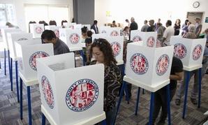 Californians vote in 2012 in Ventura County.