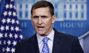 Michael Flynn speaks during the Feb. 1 news briefing at the White House.