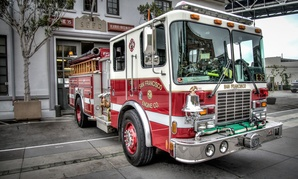 A fire truck in San Francisco.