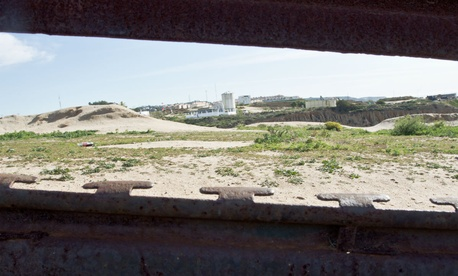 The view across the border into Tijuana, Mexico.