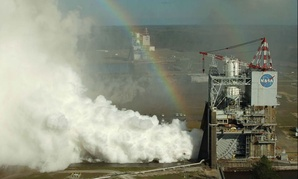 NASA engineers conducted their first RS-25 test of 2017 on the A-1 Test Stand at Stennis Space Center near Bay St. Louis, Mississippi, on Feb. 22.
