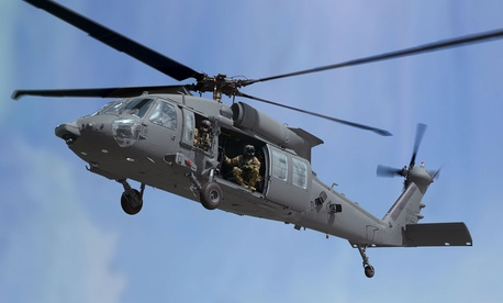 A concept of Sikorsky's new HH-60U, which it is pitching to replace 1960s-era Air Force Hueys.
