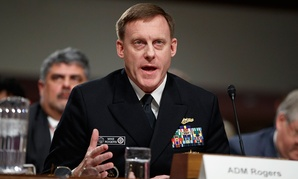 National Security Agency and Cyber Command chief Adm. Michael Rogers testifies on Capitol Hill in Washington, Thursday, Jan. 5, 2017, before the Senate Armed Services Committee.