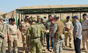 Command Sgt. Maj Benjamin Jones, Combined Joint Task Force – Operation Inherent Resolve, visits Coalition troops at Camp Taji, Iraq, where Iraqi forces can be trained.