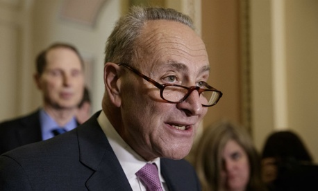 "Senate Minority Leader Chuck Schumer, D-N.Y., said that if Republicans fund the wall and address other controversial priorities, ""they will be shutting down the government."""