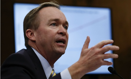 """OMB Director Mick Mulvaney said that, """"Without additional appropriations, our national security is at risk."""""""