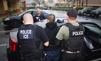 Foreign nationals are arrested during a targeted enforcement operation conducted by U.S. Immigration and Customs Enforcement in Los Angeles in February.