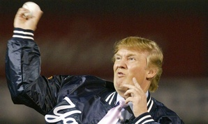Trump threw out a ceremonial first pitch at a Yankees spring training game in 2004.
