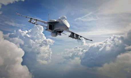 An concept photo of a Boeing Advanced Super Hornet.