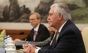 Rex Tillerson meets with Foreign Minister Wang Yi during a bilateral meeting in Beijing in March.