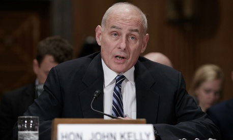 DHS Secretary John Kelly appears before the Senate Homeland Security and Governmental Affairs Committee Wednesday.