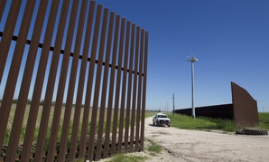 A portion of the border fence in Texas is shown in 2013.